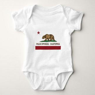 Body Para Bebê bandeira Palm Spring de Califórnia