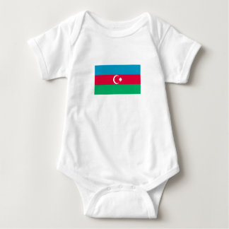 Body Para Bebê Bandeira patriótica de Azerbaijan