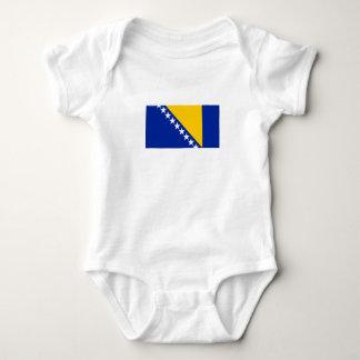 Body Para Bebê Bandeira patriótica de Bósnia - de Herzegovina