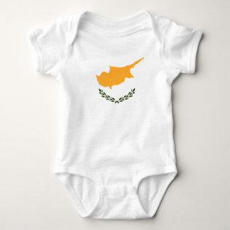 Body Para Bebê Bandeira patriótica de Chipre