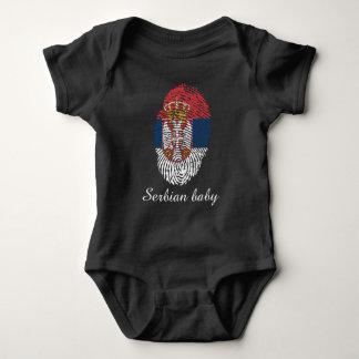 Body Para Bebê Bandeira sérvio da impressão digital do toque