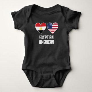 Body Para Bebê Bandeiras americanas egípcias do coração
