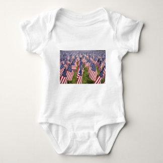 Body Para Bebê Bandeiras do Memorial Day