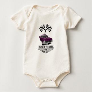Body Para Bebê bandeiras do roxo do hot rod