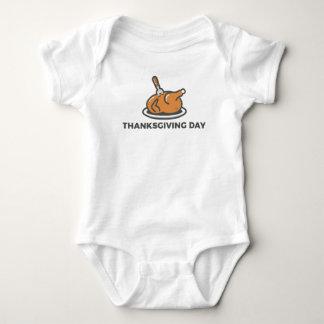 Body Para Bebê Banquete feliz de Turquia do dia da acção de