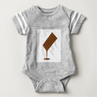 Body Para Bebê Bar de chocolate derretido