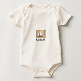 Body Para Bebê barco de navigação lisa