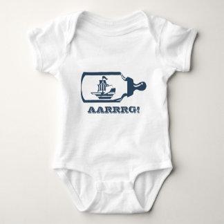 Body Para Bebê Barco em uma garrafa de bebê