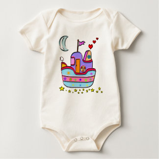 Body Para Bebê barco na noite