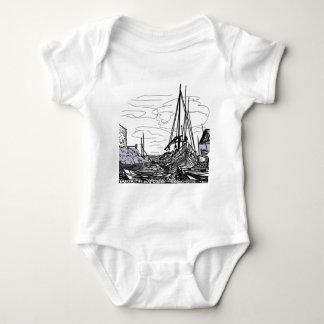 Body Para Bebê barcos no mar
