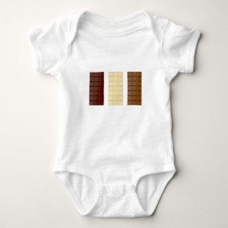 Body Para Bebê Bares de chocolate