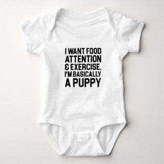 Body Para Bebê Basicamente um filhote de cachorro