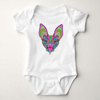 Body Para Bebê Bastão psicadélico do arco-íris