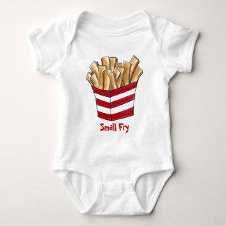 Body Para Bebê Batatas fritas rápidas Foodie da comida lixo da
