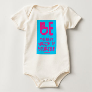 Body Para Bebê BE THE BEST VERSION OF YOURSELF, blue