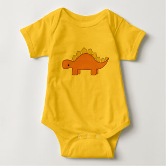 Body Para Bebê Bebê alaranjado e amarelo Dino do dinossauro do