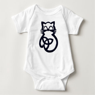 Body Para Bebê Bebê celta do gato do nó preto da trindade uma
