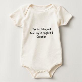 Body Para Bebê Bebê croata bilíngüe da bandeira