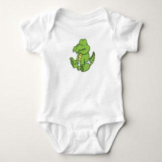Body Para Bebê Bebê customizável Crococile