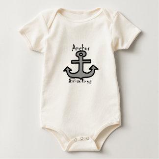 Body Para Bebê Bebê da âncora