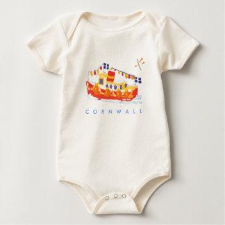 Body Para Bebê Bebê da arte: Ferryboat de Falmouth, Cornualha