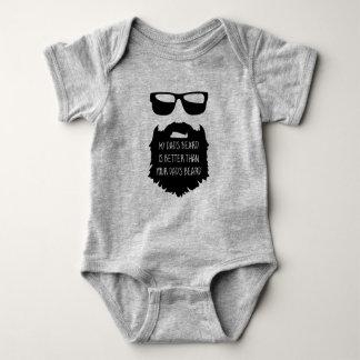 Body Para Bebê Bebê da barba do pai um terno do corpo da parte
