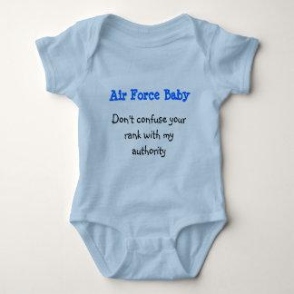 Body Para Bebê Bebê da força aérea