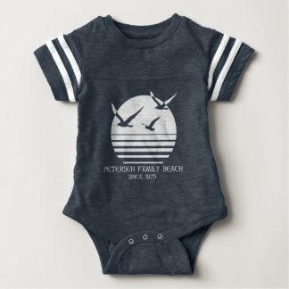Body Para Bebê Bebê da praia da família de Petersen