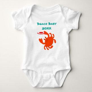 Body Para Bebê Bebê da praia do caranguejo do Frisbee