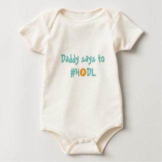 Body Para Bebê Bebê de Bitcoin do #HODL