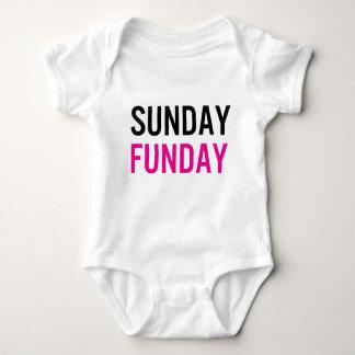 Body Para Bebê Bebê de domingo Funday uma parte