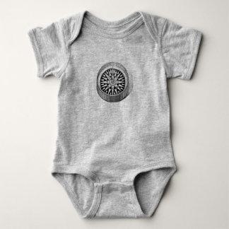 Body Para Bebê Bebê do compasso do norte verdadeiro uma parte