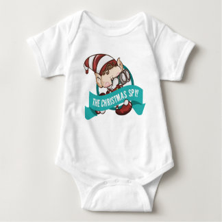 Body Para Bebê Bebê do duende - corpo do bebê do espião do Natal
