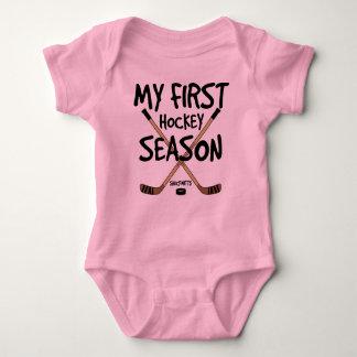 Body Para Bebê Bebé do hóquei minhas primeiras varas da estação