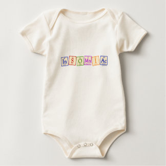 Body Para Bebê Bebê do Insomniac orgânico