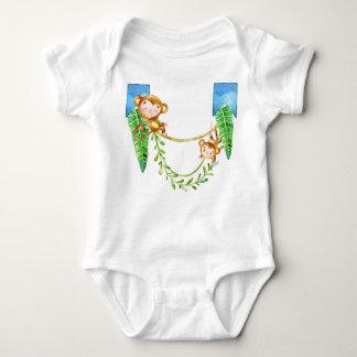 Body Para Bebê Bebê do macaco