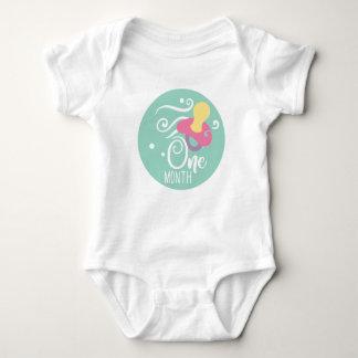 Body Para Bebê Bebé do marco miliário de 1 mês
