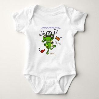 Body Para Bebê Bebê do menino de Froggie do mergulho autónomo