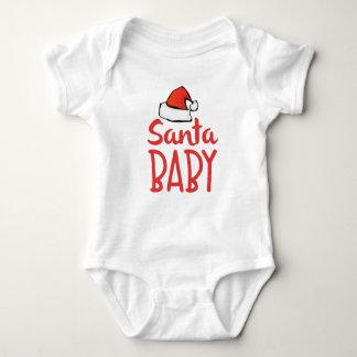 Body Para Bebê Bebê do papai noel do feriado do chapéu do papai