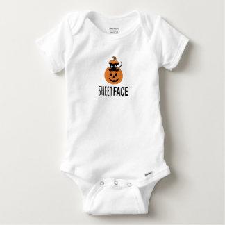 Body Para Bebê Bebê do ramo do gato Siamese da abóbora da cara da