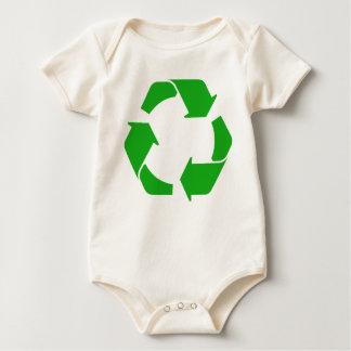 Body Para Bebê Bebê do símbolo do reciclar