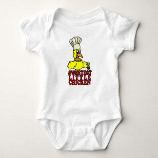 Body Para Bebê Bebê doce do CHURRASCO da galinha