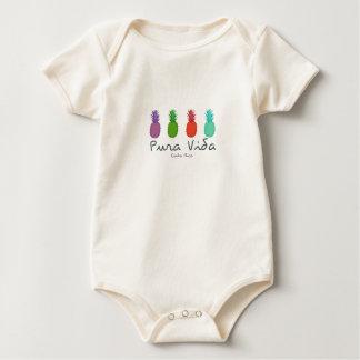 Body Para Bebê Bebê dos abacaxis de Costa Rica Pura Vida