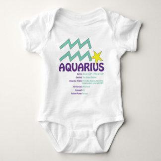 Body Para Bebê Bebê dos traços do Aquário