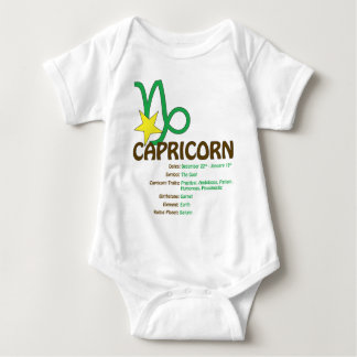 Body Para Bebê Bebê dos traços do Capricórnio