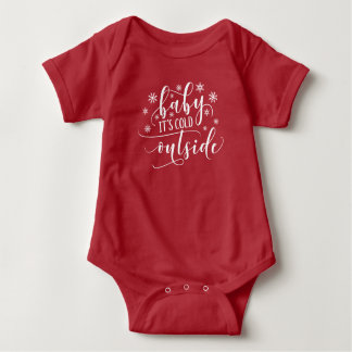 Body Para Bebê Bebê é Bodysuit exterior frio do feriado |