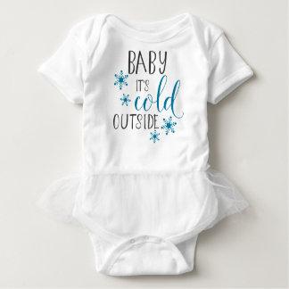 Body Para Bebê Bebê é Natal exterior frio