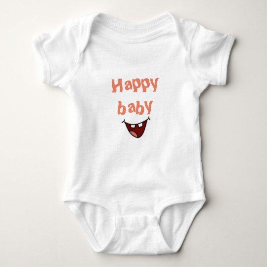 Body Para Bebê Bebê Feliz