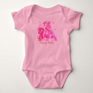 Body Para Bebê Bebê feliz no rosa