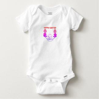 """Body Para Bebê Bebê """"felz pascoa"""" uma parte"""